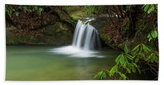 Pounder Branch Falls # 2 Beach Towel by Ulrich Burkhalter