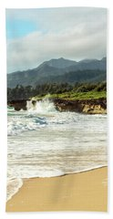 Beach Towel featuring the photograph Pounders Beach 2 by Leigh Anne Meeks