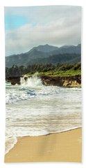 Pounders Beach 2 Beach Towel by Leigh Anne Meeks