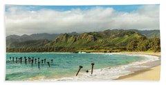 Pounders Beach 5 Beach Towel by Leigh Anne Meeks