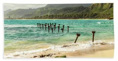 Beach Towel featuring the photograph Pounders Beach 6 by Leigh Anne Meeks