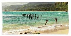 Pounders Beach 6 Beach Towel by Leigh Anne Meeks