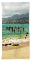 Beach Towel featuring the photograph Pounders Beach 7 by Leigh Anne Meeks