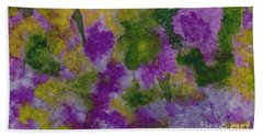 Beach Towel featuring the painting Pouring Flowers by Vicki  Housel