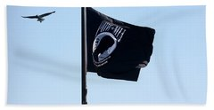 Pow Mia Beach Towel by Joan Bertucci