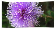Beach Sheet featuring the photograph Purple Orb by Mary Ellen Frazee
