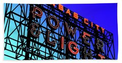 Power And Some Light Beach Towel by Christopher McKenzie