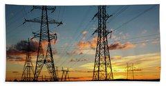 Power Cables Beach Sheet