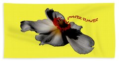Power Flower Anemone Beach Towel