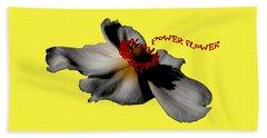 Power Flower Anemone Beach Towel
