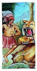 Beach Towel featuring the painting The Beast Of Beasts by Ragunath Venkatraman