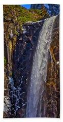 Powerful Bridalveil  Falls Beach Towel
