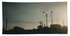 Untitled Street Scene Beach Towel