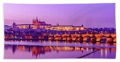 Beach Towel featuring the photograph Prague Fairytale by Dmytro Korol