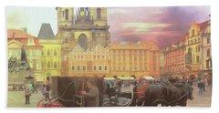 Prague Old Town Square Beach Towel