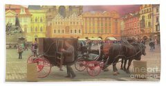 Prague Old Town Square Beach Towel