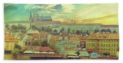 Prague Riverview Beach Towel