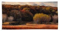 Prairie Autumn Stream Beach Towel