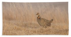 Beach Towel featuring the photograph Prairie Chicken 5-2015 by Thomas Young