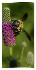 Prairie Clover And The Bee Beach Towel