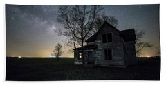 Beach Towel featuring the photograph Prairie Gold And Milky Way by Aaron J Groen