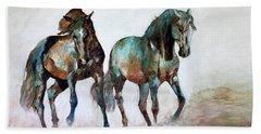 Prairie Horse Dance Beach Sheet