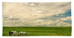 Prairie Horses Beach Sheet