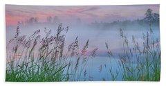 Beach Towel featuring the photograph Prairie Pond Before Sunrise by Dan Jurak