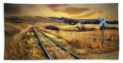 Prairie Tracks Beach Towel