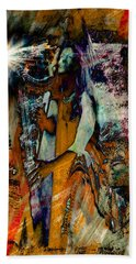 Praise Him With The Harp IIi Beach Towel by Anastasia Savage Ealy
