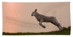 Prancing Lamb Beach Towel
