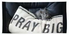 Beach Towel featuring the photograph Pray Big by Linda Mishler