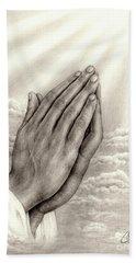Praying Hands Beach Sheet