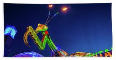 Praying Mantis Fremont Street Las Vegas Beach Towel