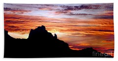 Praying Monk, Camelback Mountain, Phoenix Arizona Beach Towel