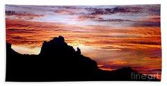 Praying Monk, Camelback Mountain, Phoenix Arizona Beach Sheet