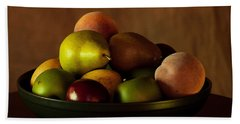 Precious Fruit Bowl Beach Towel by Sherry Hallemeier