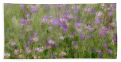 Precious Meadow Beach Towel by The Art Of Marilyn Ridoutt-Greene