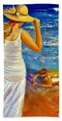 Beach Sheet featuring the painting Precious Memories  by Cristina Mihailescu