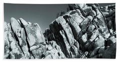 Precious Moment - Juxtaposed Rocks Joshua Tree National Park Beach Towel