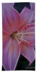 Precious Pink Lily Beach Sheet