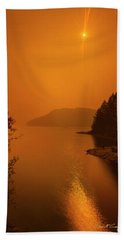 Beach Towel featuring the photograph Preclipse 8.17 by Dan McGeorge