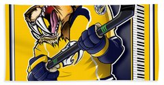 Predneck Hockey Beach Towel