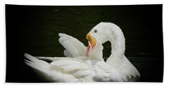 Preening Beach Towel by Lisa L Silva