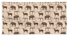 Prehistoric Animals Beach Sheet by Antique Images