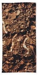 Prehistoric Diplodocus Bones Beach Towel