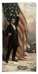 President Abraham Lincoln - American Flag Beach Sheet