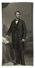 Beach Towel featuring the photograph President Abraham Lincoln by International  Images