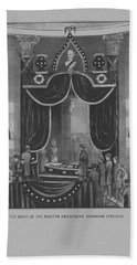 President Abraham Lincoln Lying In State Beach Towel