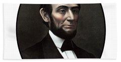 President Abraham Lincoln  Beach Towel